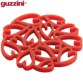 Red heart design silicone pan stand