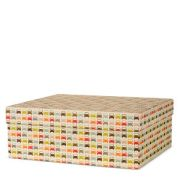 Designer Orla Kiely cars storage box