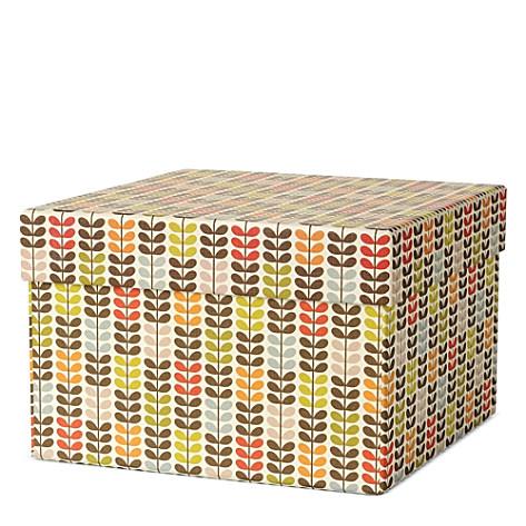 Designer Orla Kiely Cars Storage Box Designer Orla Kiely Stem Print Box