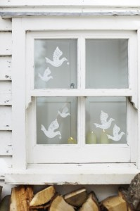 White dove stickers