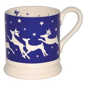 Christmas deer and reindeer mugs from Emma Bridgewater