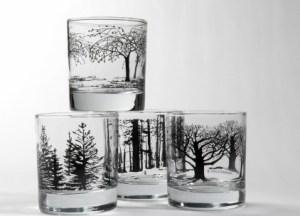Designer glassware by Snowden Flood