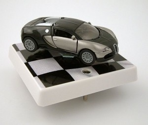 Bugatti sports car light switch