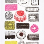 Two tasty tea towels by Charlotte Farmer
