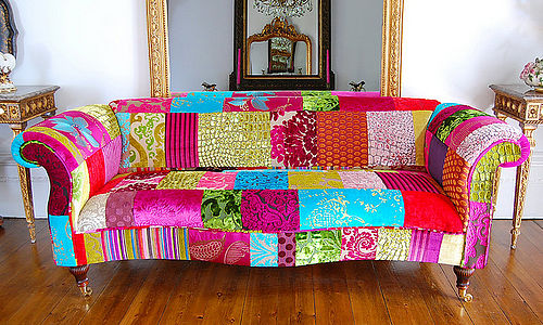 Funky Marrakech patchwork sofa by Couch GB