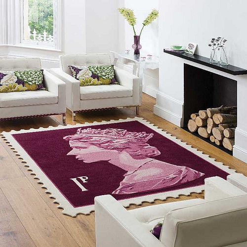 Iconic stamp design rug