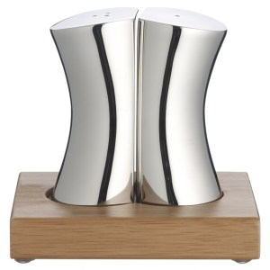 Robert Welsh designer stainless steel salt and pepper set