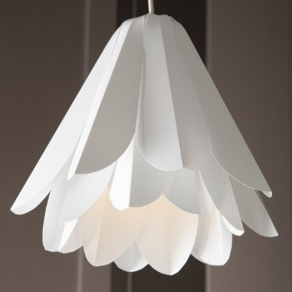 Hanging flower light shade by Yorke Design