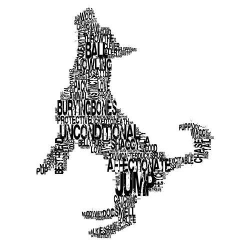 Betsy Benn typographic dog print