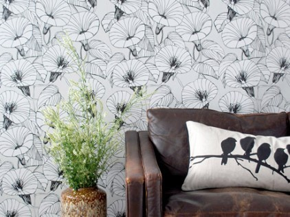 Ferm Living Bindweed wallpaper by Trine Andersen