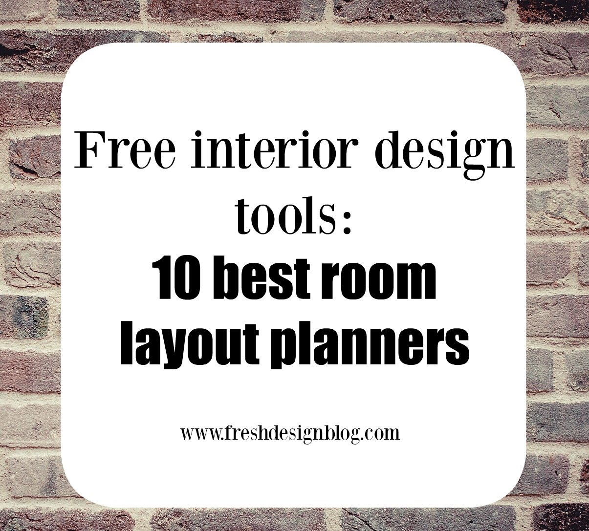 Learn how to re-design and plan a room using these fab free interior & 10 of the best free online room layout planner tools