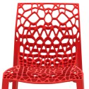 Red coral designer recycled chair modern seat