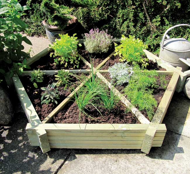 Hexagonal Herb Garden Planter From Garden Chic
