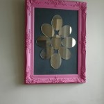 Funky pink mirror from Ghost Furniture