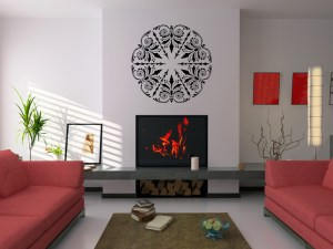 Create a focal wall with a wall sticker from Stickul