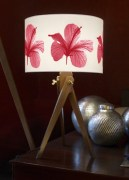 Hibiscus flower lamp light home lighting from Plum Chutney