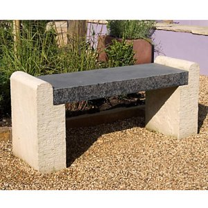Groovy Foras Hampton Outdoor Stone Bench From John Lewis Bralicious Painted Fabric Chair Ideas Braliciousco