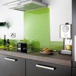 Four contemporary glass kitchen splashbacks