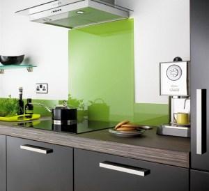 Contemporary glass kitchen splashbacks