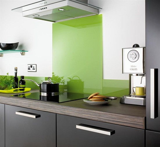 Four contemporary glass kitchen splashbacks