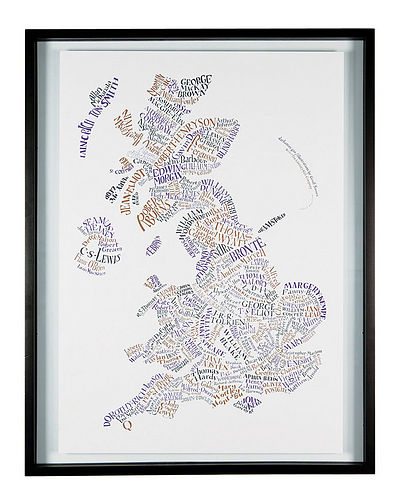 Literary Britain map poster