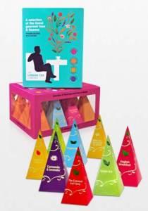 Pyramid selection box of teas