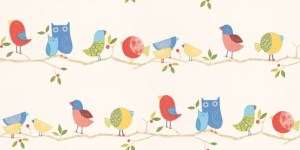 Fresh design children's nursery wallpaper