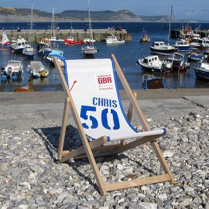 Deck chair made from recycled yacht sails