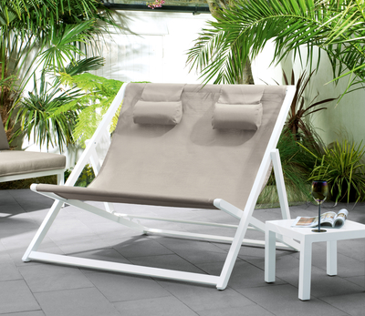 Solis double deckchair reduced at Dwell