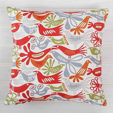 Bargain alert: Contemporary bird cushion