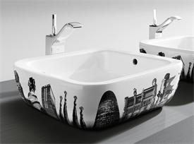 Roca designer urban Barcelona wash basin sink
