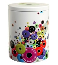 Bobbins spools home storage tin box jar