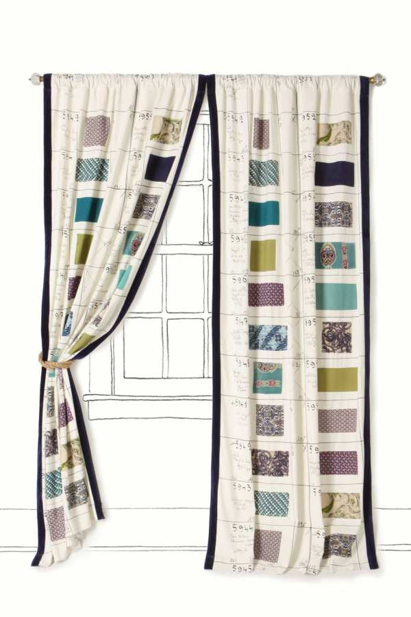 Anthropologie Swatch Book curtains