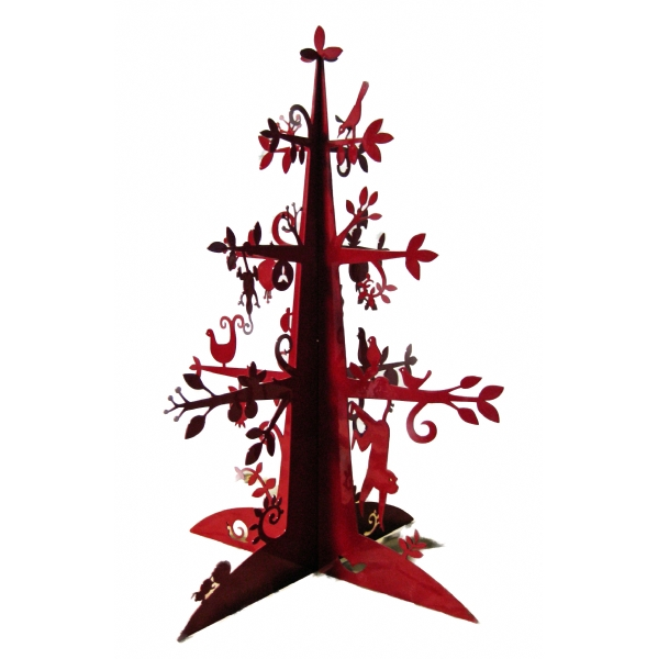 Laser cut christmas tabletop xmas tree