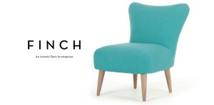 Modern contemporary turquoise designer chair
