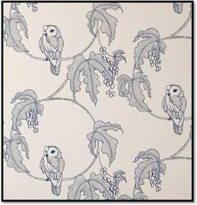 Contemporary owl design wallpaper