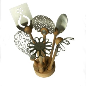 Contemporary design utensils for a funky kitchen