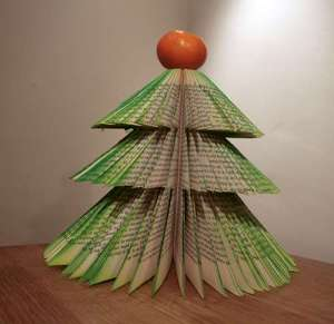 Turn a hardback book into an Xmas tree