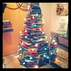 Funky and unique christmas book trees