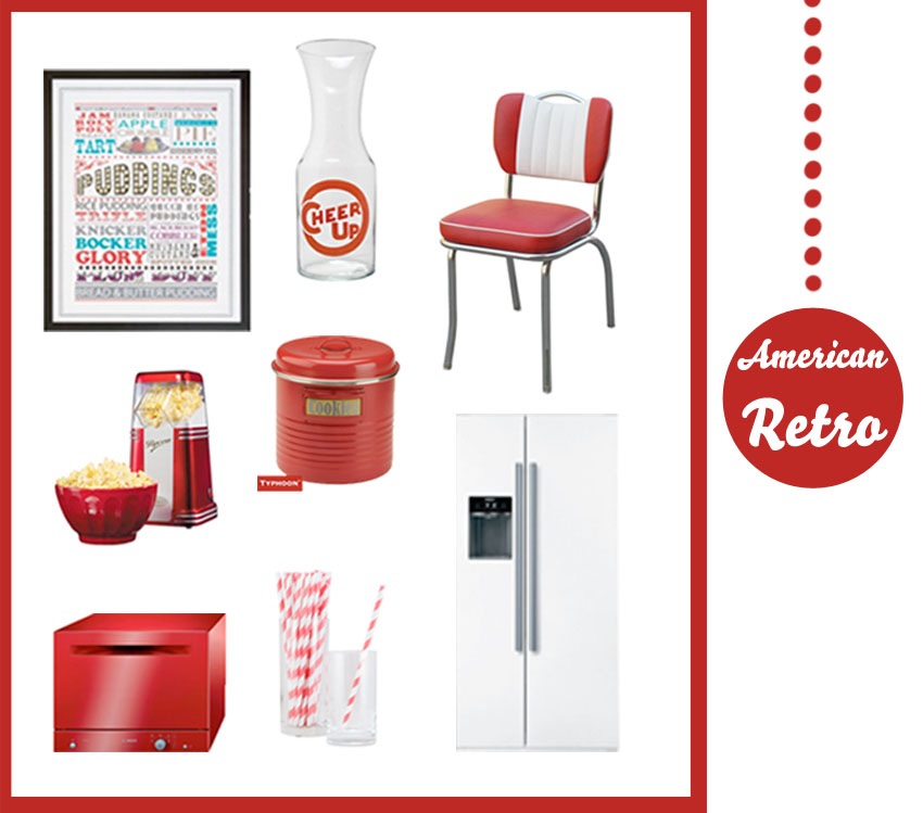 Get the look red american retro diner fresh design blog for American diner style kitchen ideas
