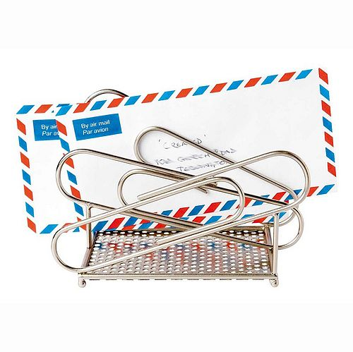 Fair Trade paperclip letter rack