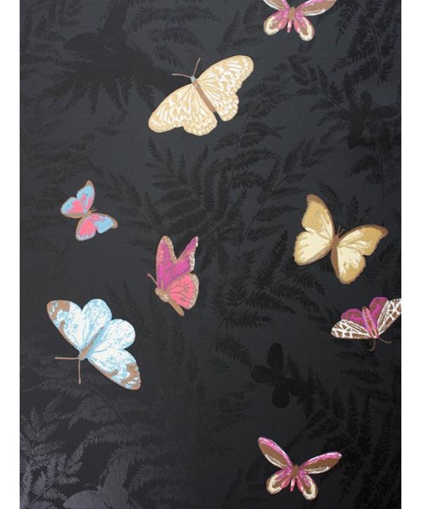 Black Farfalla wallpaper by Osborne and Little