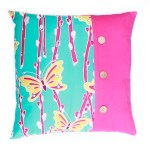 Golden butterflies cushion from More Vibrant