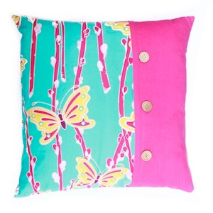 Handmade vibrant cushion