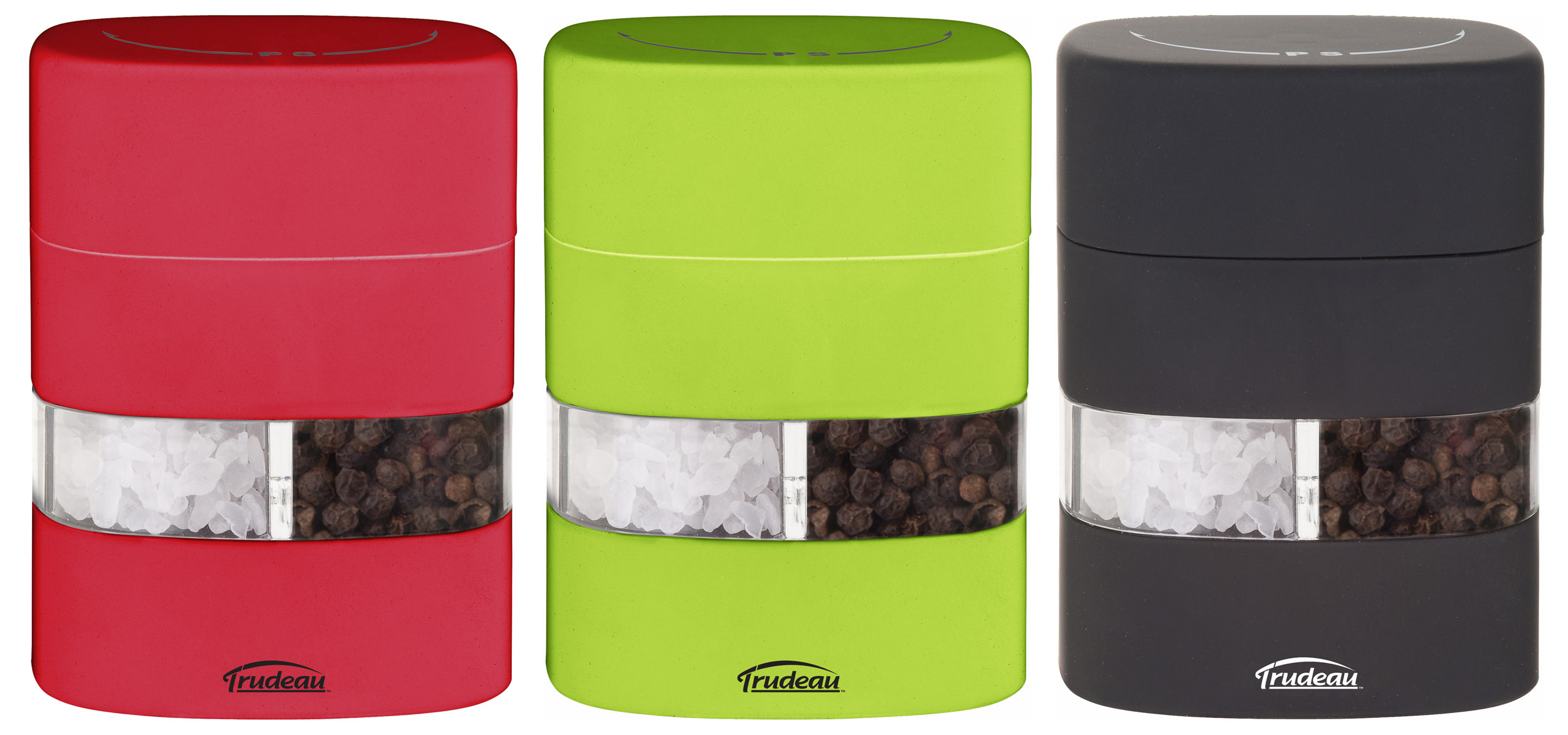 Trudeau 2 in 1 salt and pepper grinder fresh design blog Funky salt and pepper grinders