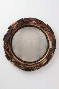 Contemporary upcycled frame mirror