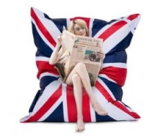 Patriotic Union Jack giant bean bag seat