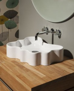 Contemporary designer bathroom basin sink