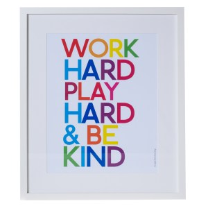 Inspirational framed wall art
