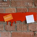 Contemporary drip design magnetic notice board